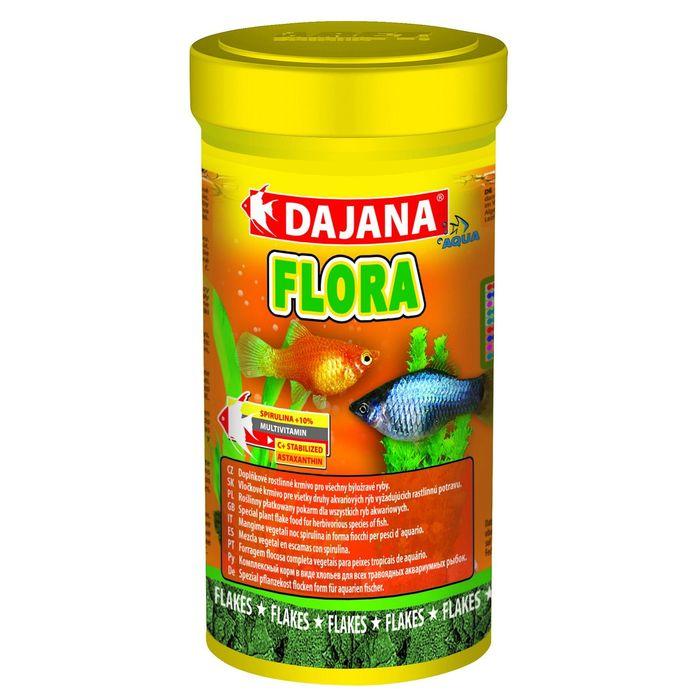 Даяна Корм Flora Flakes для травоядных рыб, хлопья, в ассортименте, Dajana