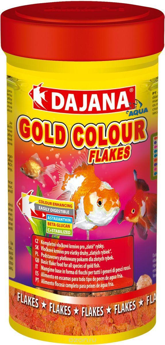 Даяна Корм Gold Colour Flakes для золотых рыбок, хлопья, в ассортименте, Dajana