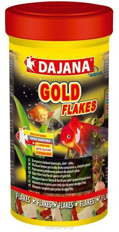 Даяна Корм Gold Flakes для золотых рыбок, хлопья, в ассортименте, Dajana