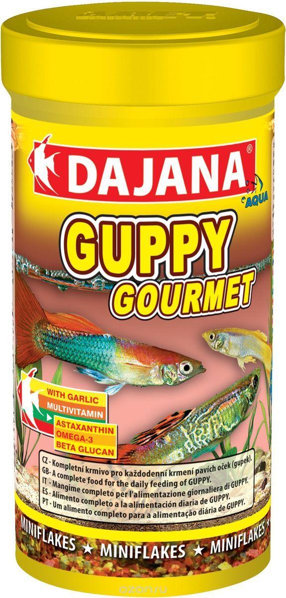 Даяна Корм Guppy Gourmet для для всех видов гуппи, хлопья, в ассортименте, Dajana