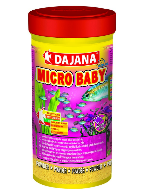 Даяна Корм Micro Baby для мальков и мелких рыбок, порошок, 100 мл / 50 г, Dajana