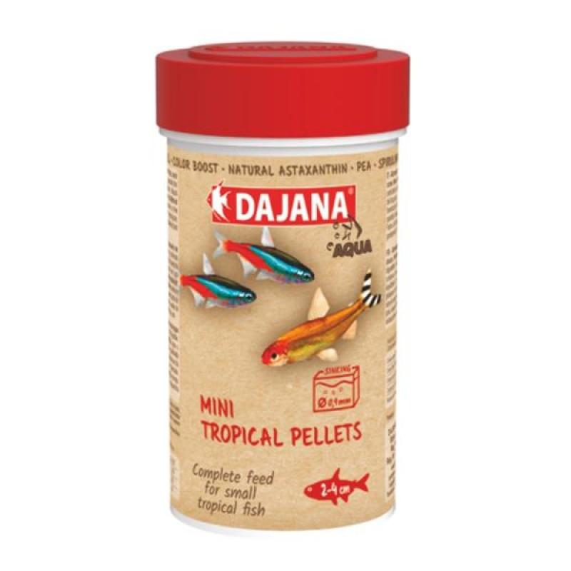 Даяна Корм Mini tropical pellets для неонов, тетровых, гранулы, в ассортименте, Dajana