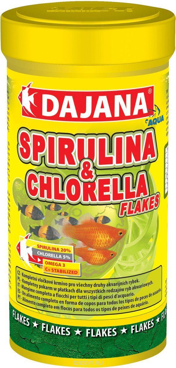 Даяна Корм Spirulina and Chlorella Flakes для рыб, хлопья, в ассортименте, Dajana