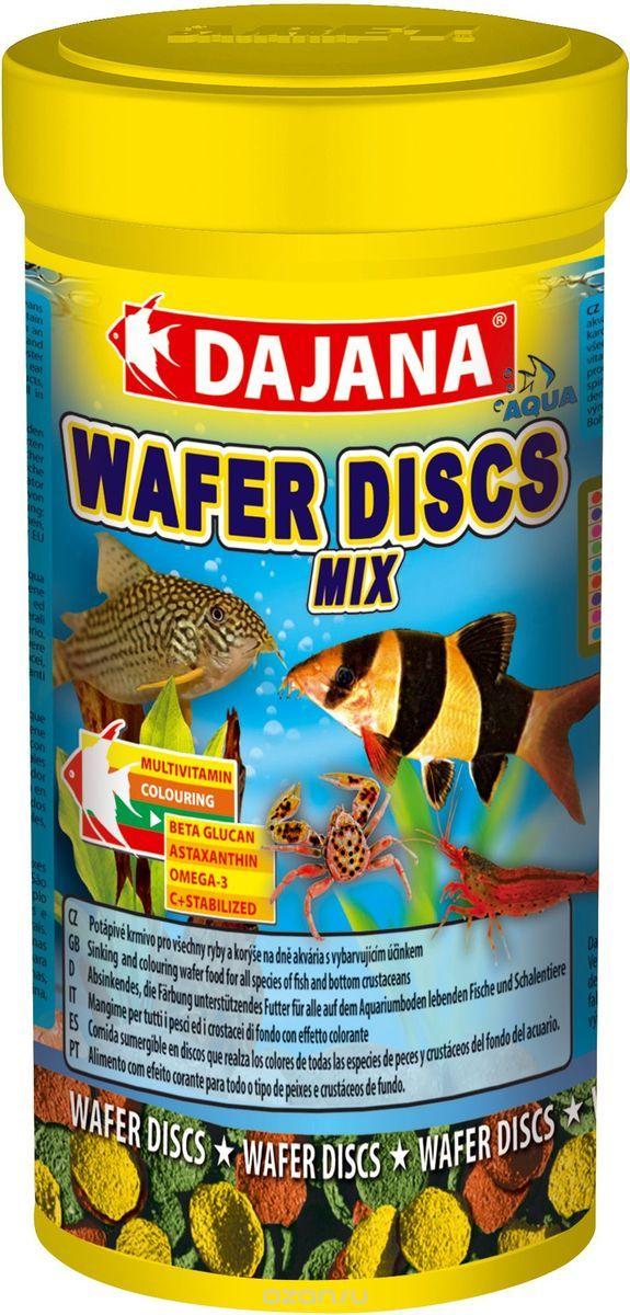 Даяна Корм Wafer Discs Mix для рыб, диски, в ассортименте, Dajana