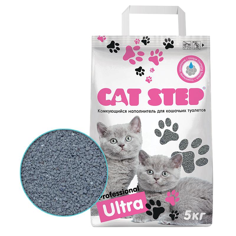Кет Степ Наполнитель Professional Ultra бентонитовый комкующийся, 5 кг, Cat Step