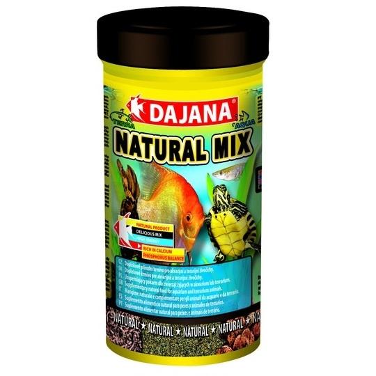 Даяна Корм Natural Mix для рыб и рептилий, смесь дафнии, гаммаруса и личинок комаров, в ассортименте, Dajana