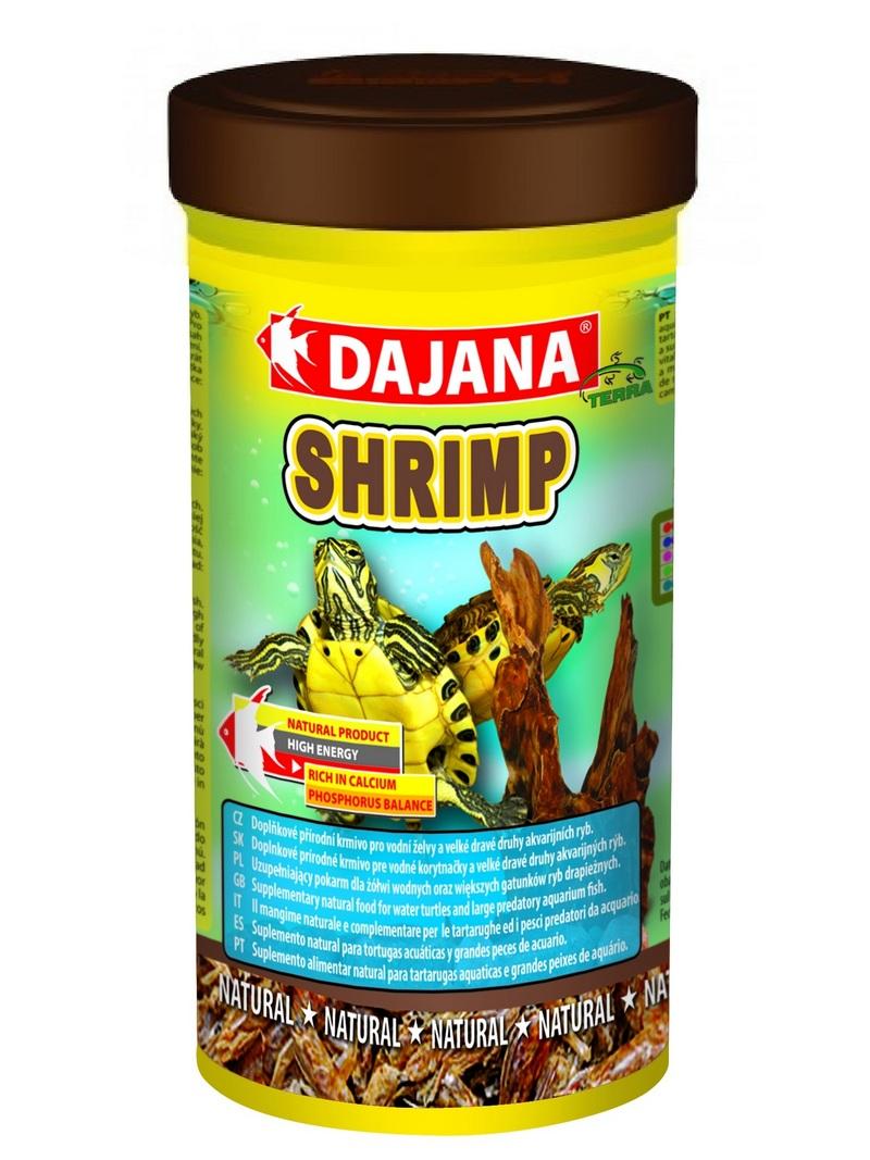 Даяна Корм Shrimp для рептилий, черепах и рыб, сушеные креветки, в ассортименте, Dajana