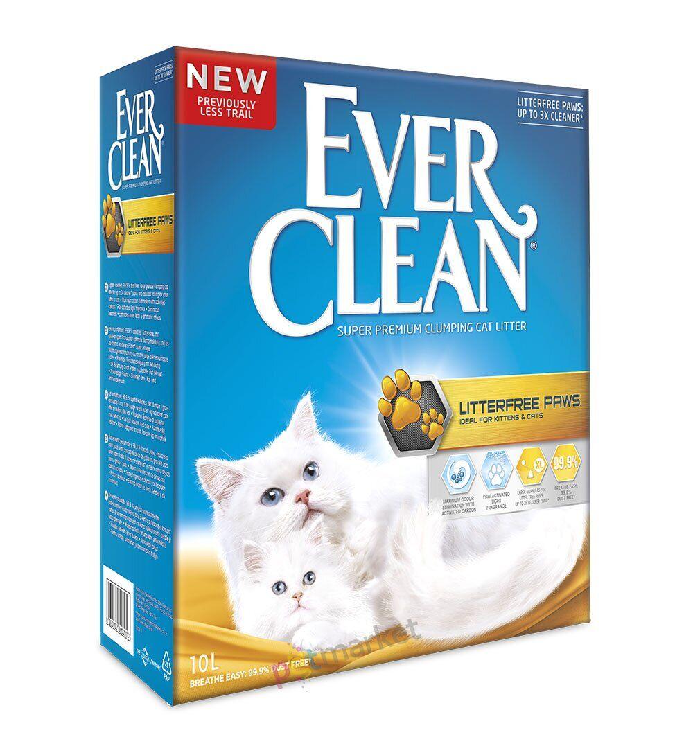 Эвер Клин Комкующийся наполнитель LitterFree Paws для котят и длинношерстных кошек для идеально чистых лап, в ассортименте, Ever Clean
