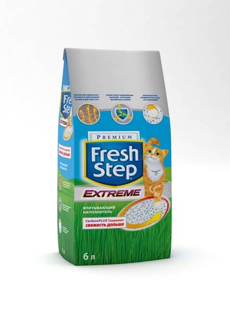 Наполнитель для кошачьего туалета Fresh Step Extreme с технологией CarbonPLUS, тройной контроль запахов, в ассортименте