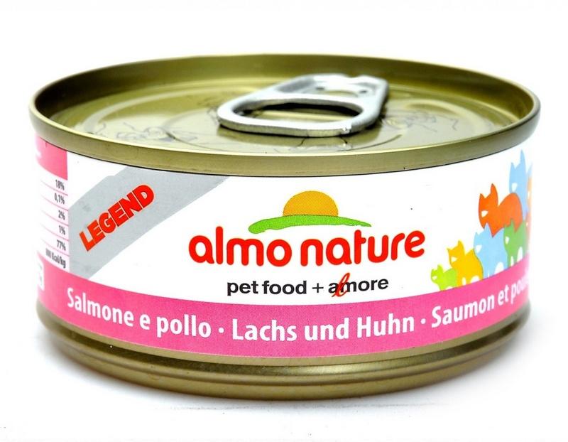 Алмо Натуре Консервы Legend HFC Fish для взрослых кошек, 70 г, в ассортименте, Almo Nature