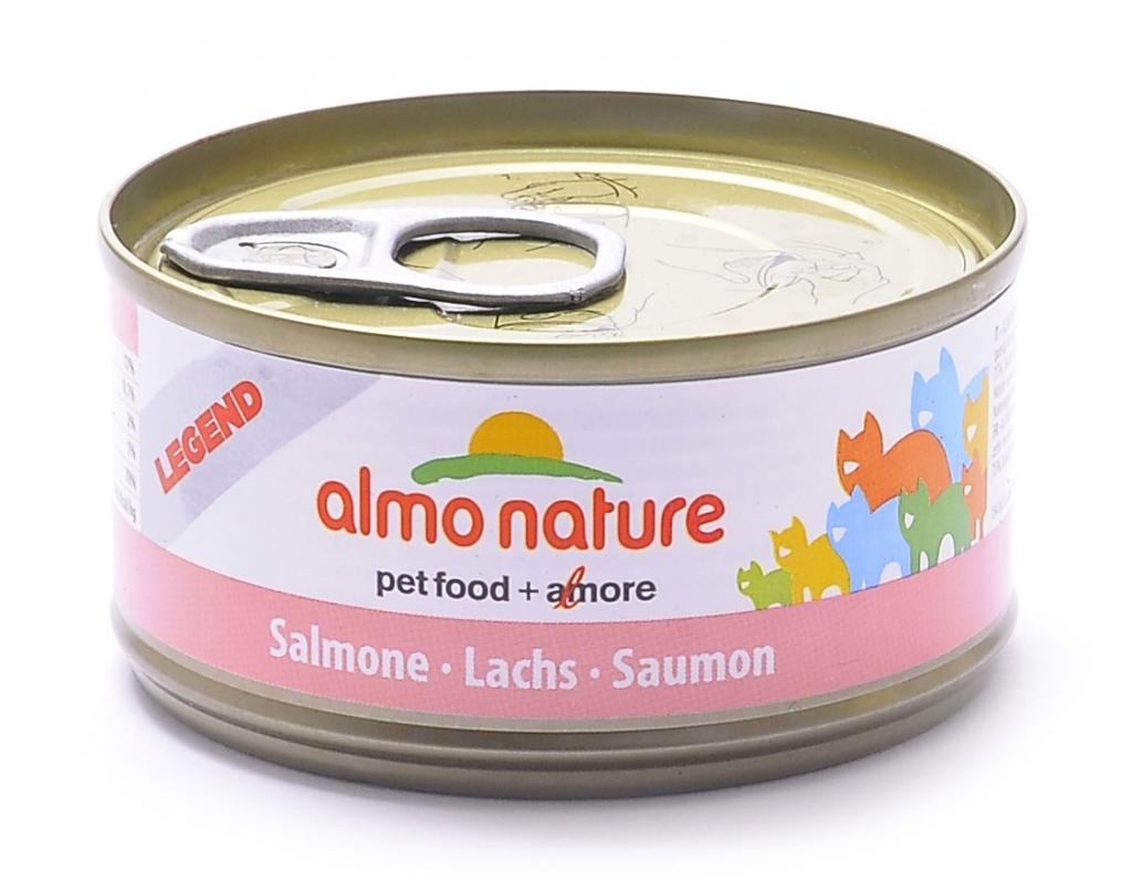 Алмо Натуре Консервы Legend HFC Fish 75% мяса для взрослых кошек, 70 г, в ассортименте, Almo Nature