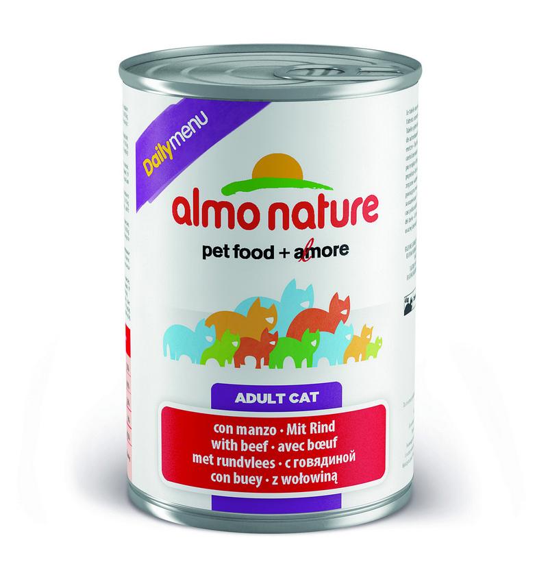 Алмо Натуре Консервы Daily Menu для взрослых кошек, 400 г, в ассортименте, Almo Nature