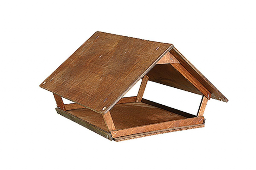 Дарелл Кормушка для птиц и грызунов уличная Домик, фанера, 37*34,5*31 см, Darell