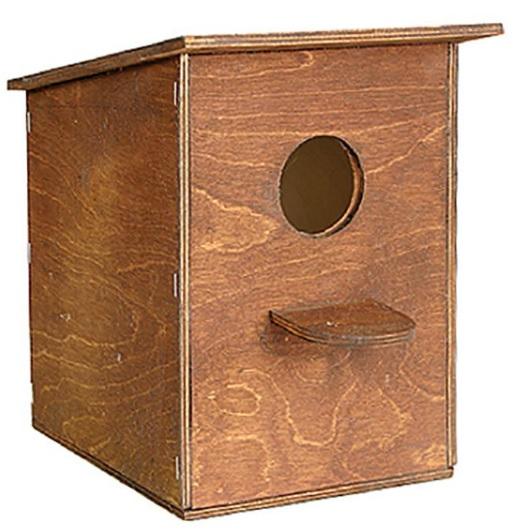 Дарелл Скворечник для птиц, фанера, морилка, 22,5*20*39 см, Darell