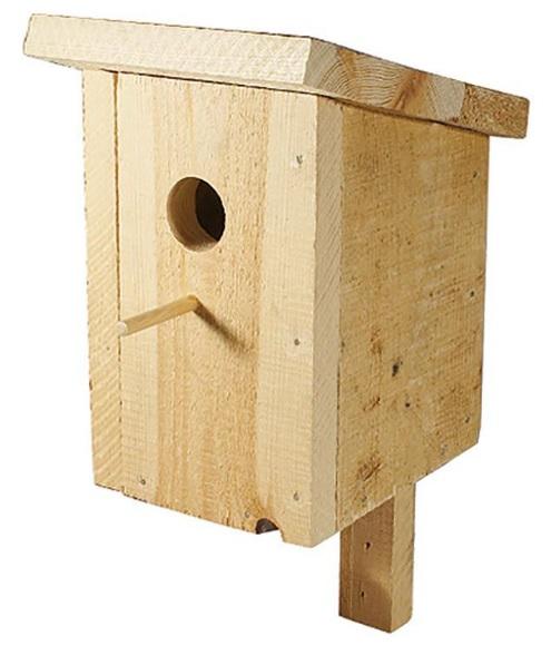 Дарелл Скворечник для птиц уличный Классика, крепление, массив дерева, 20*23*28 см, Darell