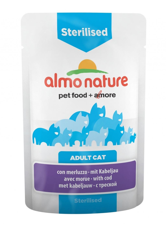 Алмо Натуре Паучи Functional для кастрированных кошек, 70 г, в ассортименте, Almo Nature