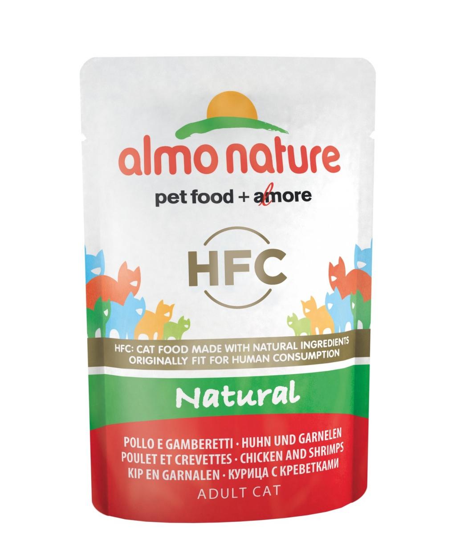 Алмо Натуре Паучи Classic Nature HFC для взрослых кошек, 55 г, в ассортименте, Almo Nature