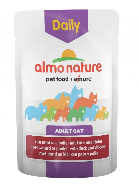 Алмо Натуре Паучи Daily Menu для взрослых кошек, 70 г, в ассортименте, Almo Nature