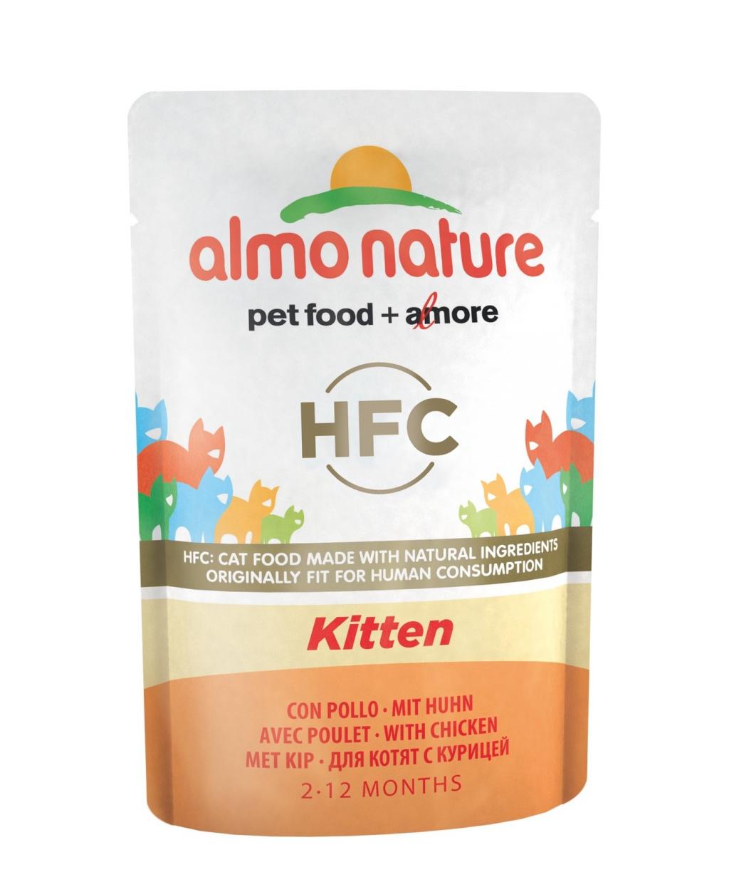 Алмо Натуре Паучи Classic Cuisine Kitten Холистик для котят, 55 г, Курица, Almo Nature