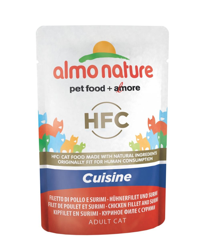Алмо Натуре Паучи Classic Cuisine HFC Холистик для кошек, 55 г, в ассортименте, Almo Nature