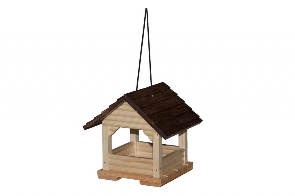 Дарелл Кормушка для птиц и грызунов уличная Беседка, массив дерева, 18*20*19 см, Darell