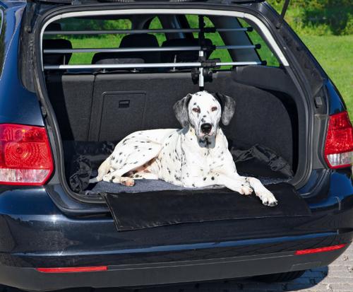 Трикси Подстилка-лежак в багажник с защитой бампера, 95*75 см, черный/серый, Trixie