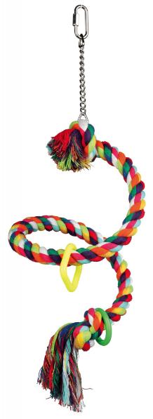 Трикси Игрушка для птиц Спираль из каната, 50 см, хлопок, Trixie