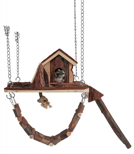 Трикси Игровой комплекс Janne для мелких грызунов, 26*22 см, дерево, Trixie