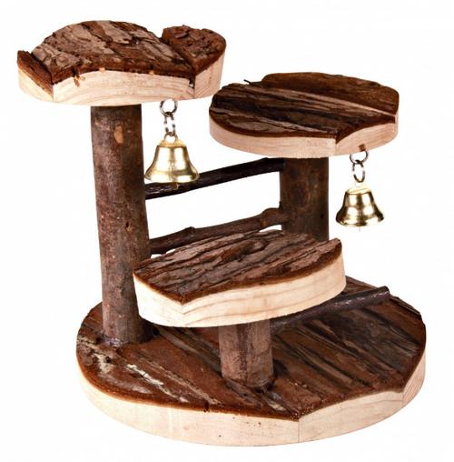 Трикси Игровая площадка-лесенка Natural Living для мелких грызунов, 14*14 см, дерево, Trixie