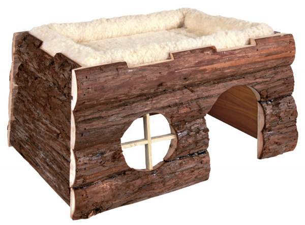 Трикси Домик Tilde со съемной меховой лежанкой для морских свинок, кроликов, хорьков, 39*29*22 см, дерево, Trixie