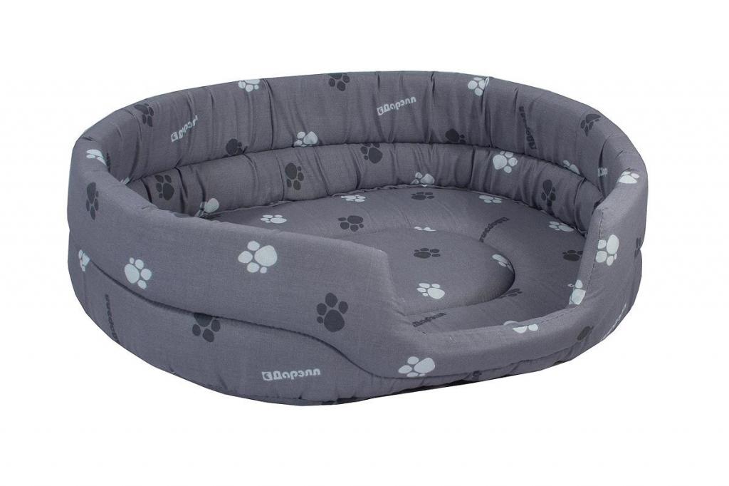 Дарэлл Лежак овальный стёганый для собак и кошек, 53*42*16 см, в ассортименте, Darell