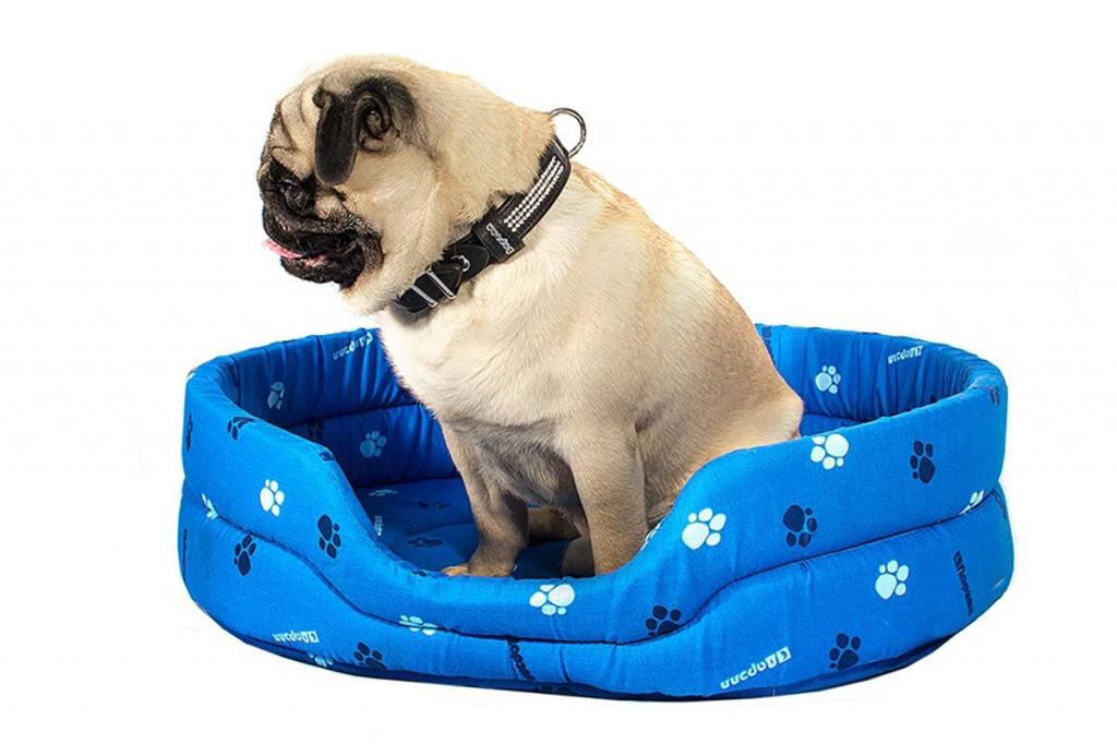 Дарэлл Лежак овальный стёганый для собак и кошек, 64*51*17 см, в ассортименте
