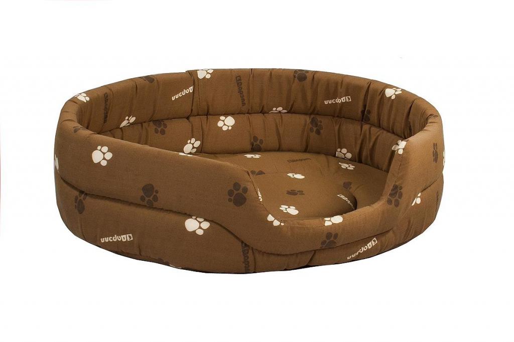 Дарэлл Лежак овальный стёганый для собак и кошек, 75*60*18 см, в ассортименте