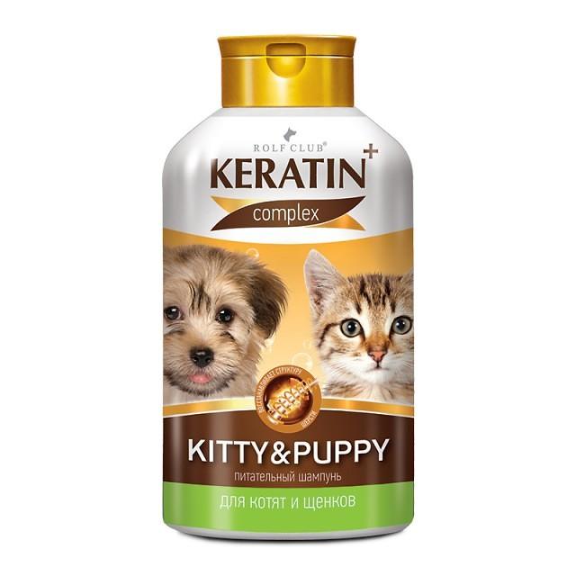 Экопром Шампунь Rolf Club Keratin питательный Kitty and Puppy для котят и щенков, 400 мл