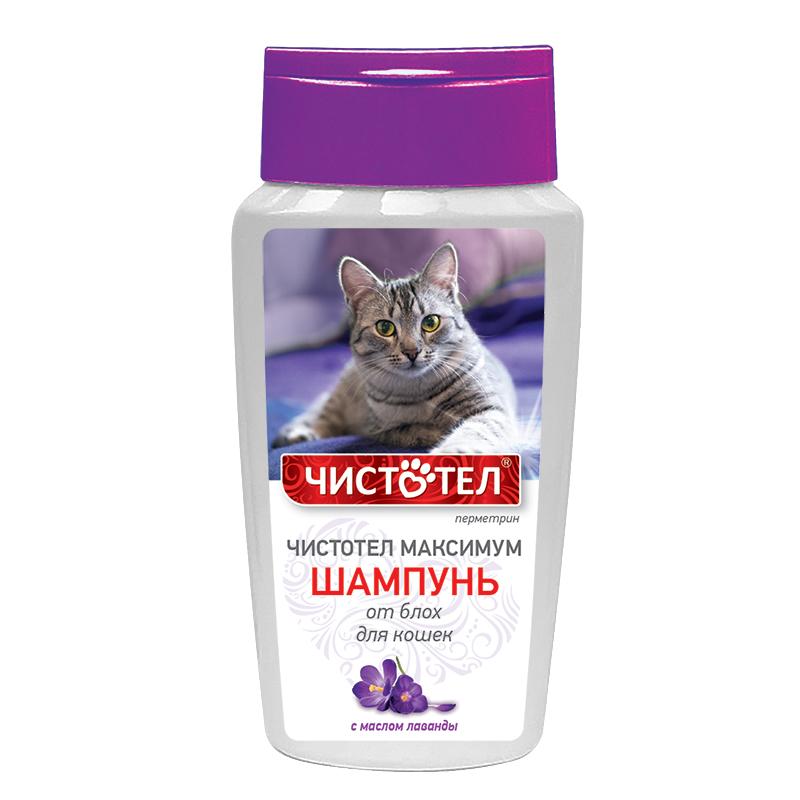Экопром Шампунь Чистотел Максимум от блох с маслом лаванды для кошек, 180 мл