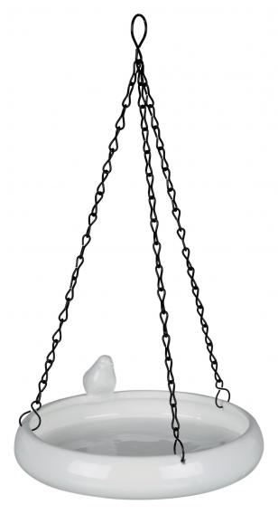 Трикси Миска для птиц керамическая на цепочках, 500 мл, диаметр 21 см, Trixie