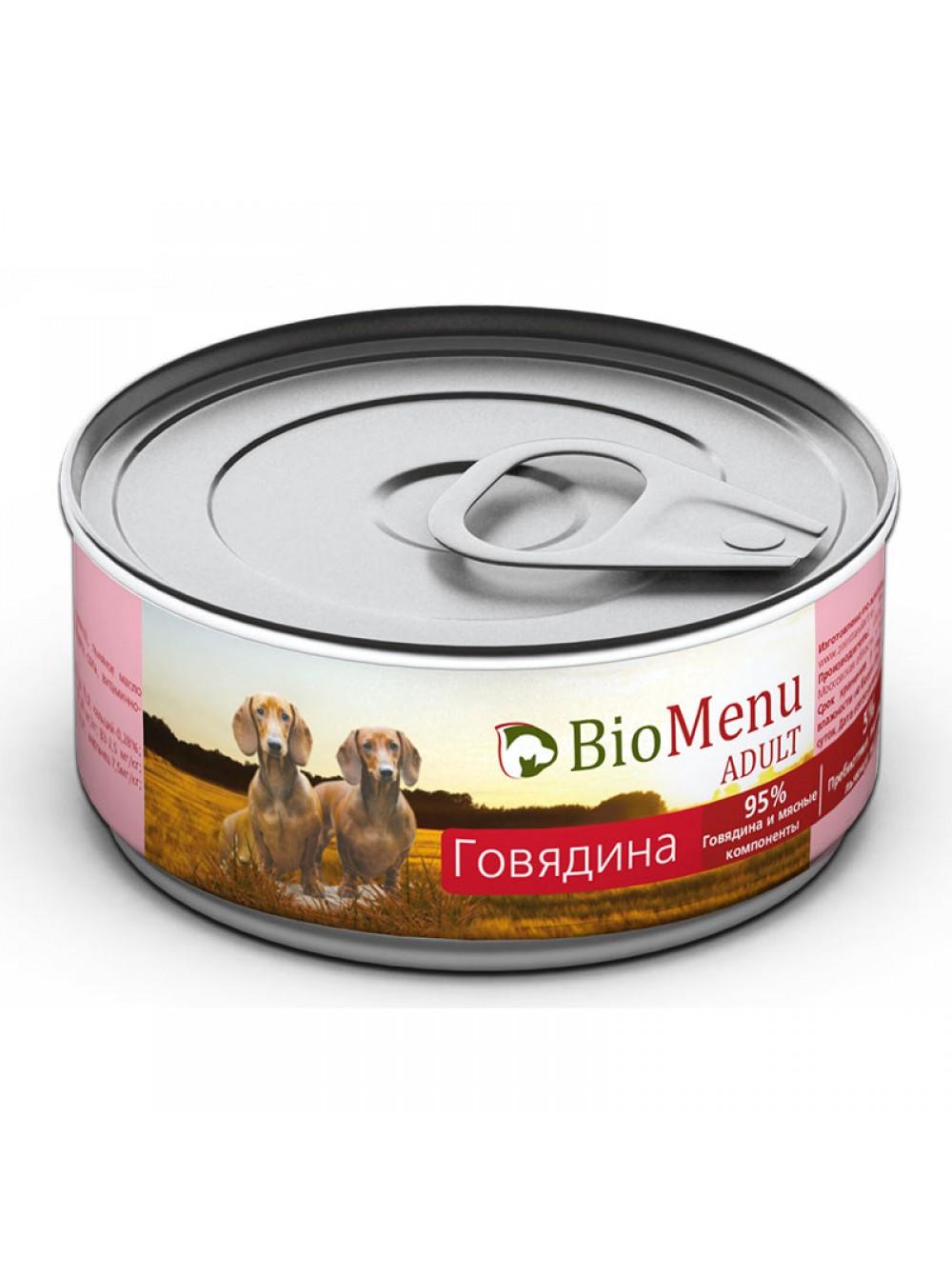 БиоМеню Консервы Adult для взрослых собак, в ассортименте, 24*100 г, BioMenu