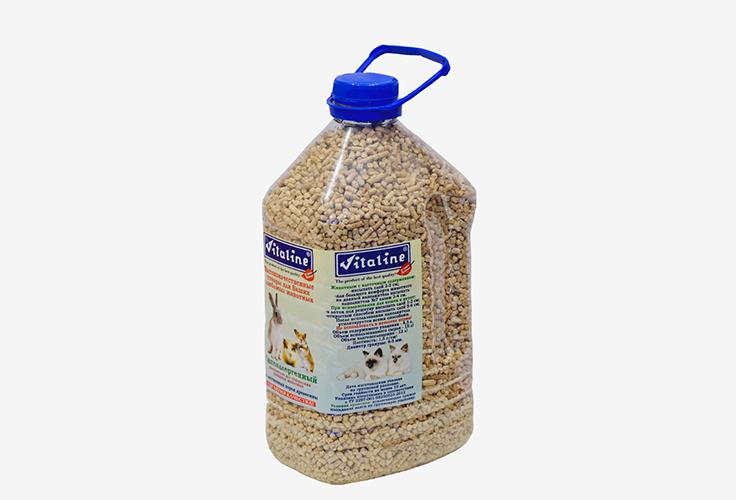Виталайн Наполнитель Гипоаллергенный древесный гранулированный из лиственных пород, 4,5 л, Vitaline