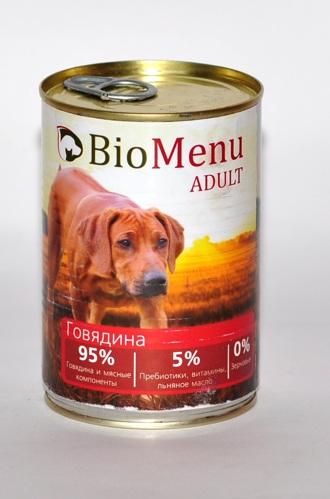 БиоМеню Консервы Adult для взрослых собак, в ассортименте, 12*410 г, BioMenu