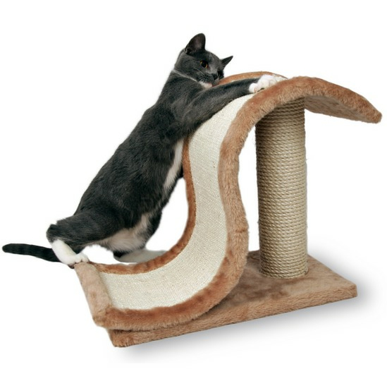Трикси Когтеточка для кошек Волна со столбиком, 25*44*39 см, Trixie