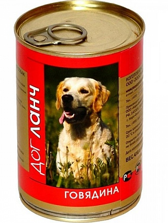 ДогЛанч Консервы в Желе для собак, в ассортименте, 12*410 г, Dog Lunch