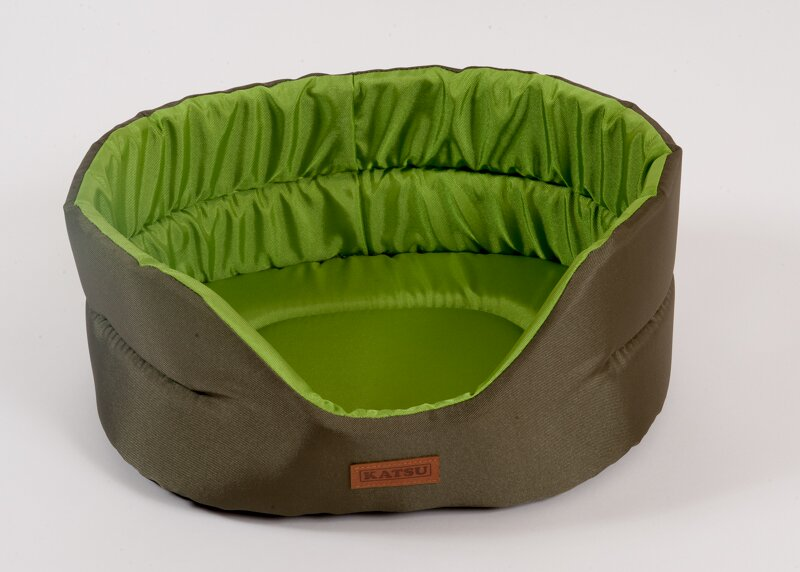 Катсу Лежак Classic Shine, 52*46*19 см, хаки/зеленый, Katsu