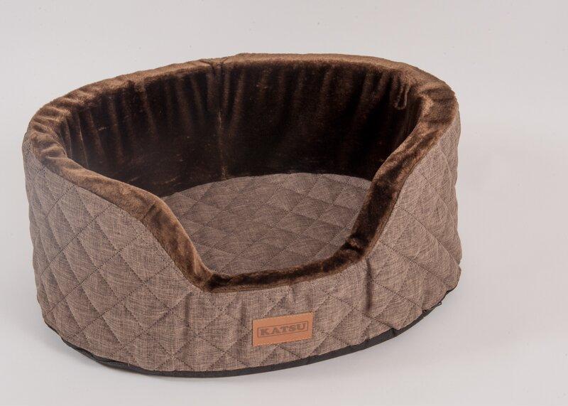 Катсу Лежак Studnia для собак, шоколадный, 125*100*40 см, Katsu