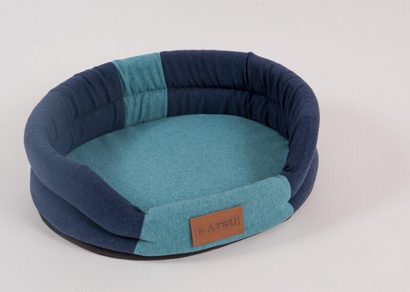 Катсу Лежак Pontone Animal синий/голубой, в ассортименте, Katsu