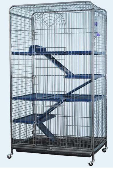 Кредо Клетка D801 с изолированным поддоном для грызунов и кошек, 79*52*140 см, в ассортименте, Kredo