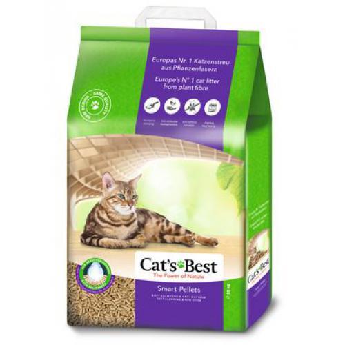 Кетс Бест Наполнитель древесный комкующийся Smart Pellets, пеллеты, в ассортименте, Cat's Best