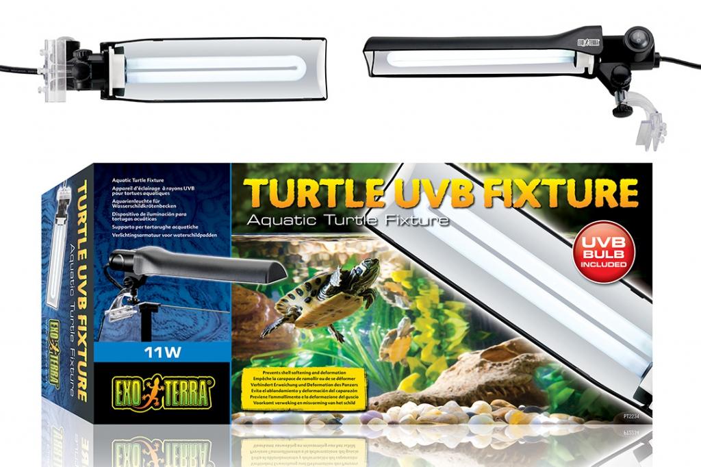 Экзо Терра Светильник с держателем Turtle UVB Fixture для черепашатников, 28*7*3 см, Exo Terra