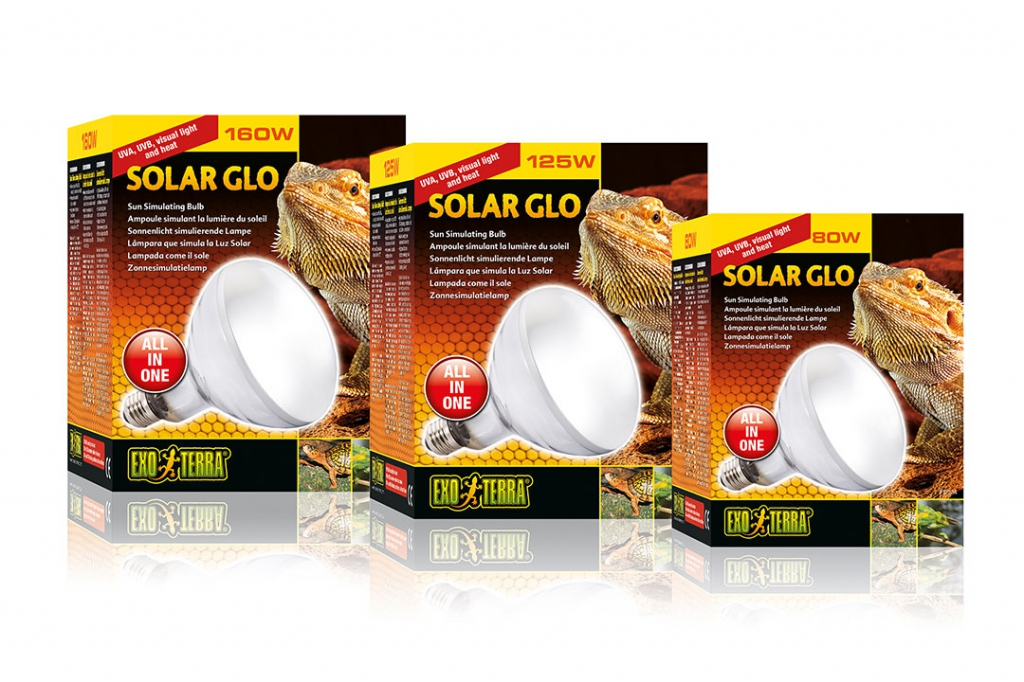 Экзо Терра Лампа с УФ имитирующая солнце Solar Glo освещение и обогрев, в ассортименте, Exo Terra