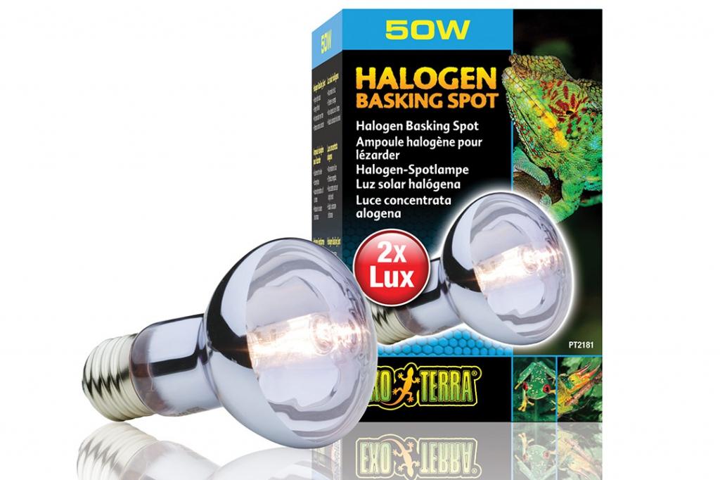 Экзо Терра Лампа галогенная для баскинга Halogen Basking Spot, в ассортименте, Exo Terra