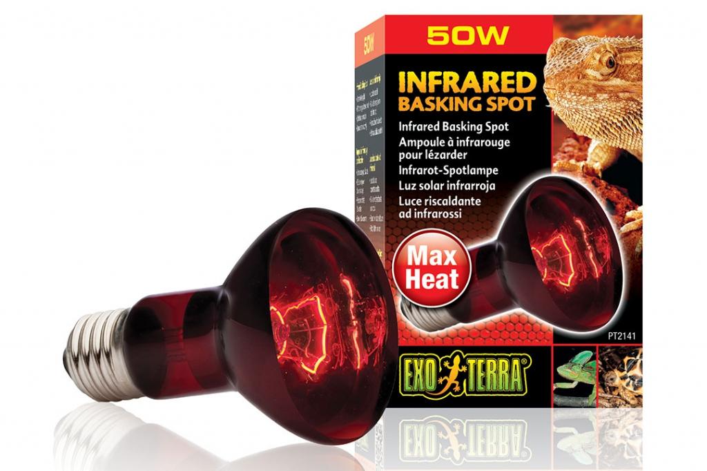 Экзо Терра Инфракрасная лампа Heat Glo (Infrared Basking Spot), в ассортименте, Exo Terra